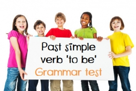 grammar test past simple verb to be