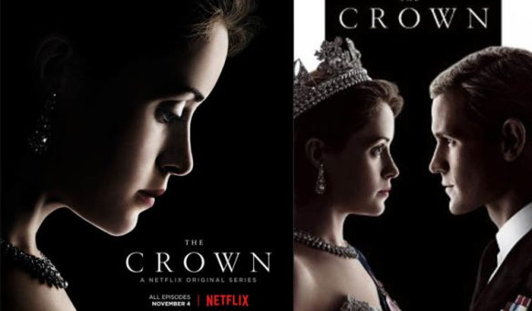 "THE CROWN"", A BRITISH TV SERIES ON NETFLIX (1B2, B2 C1, C2"