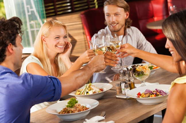 People-Toasting-in-Restaurant