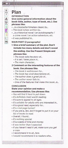 a book review 2b1 (useful language)
