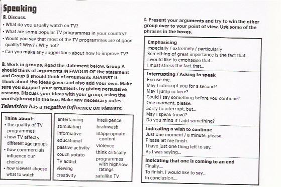 TV NEGATIVE INFLUENCE? 1